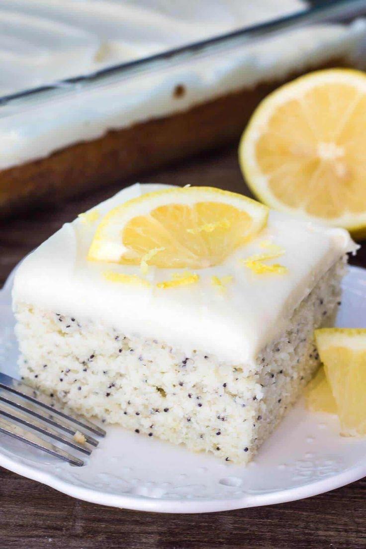 Gâteau au Citron et aux graines de pavot au cookeo
