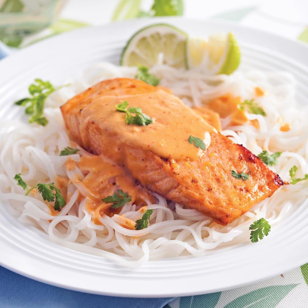 Pavé de saumon au Cookeo