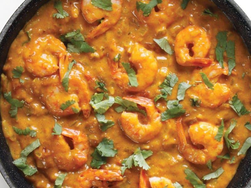 Crevettes au curry au Cookeo