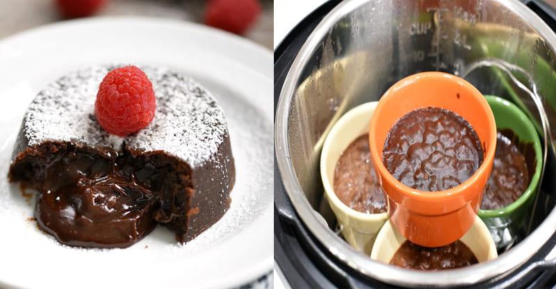 Instant Pot Chocolate Lava Cakes