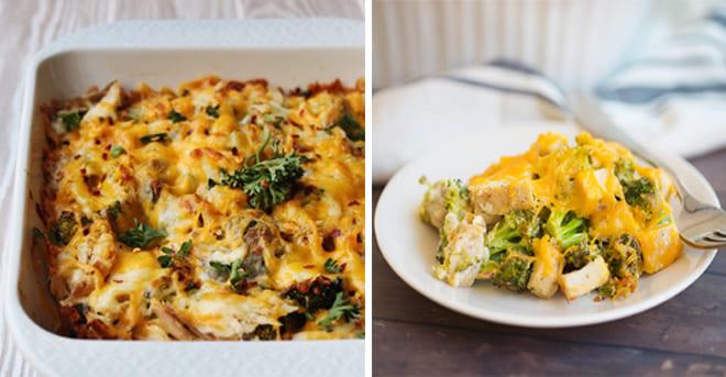 KETO CHICKEN, BROCCOLI AND CHEESE CASSEROLE