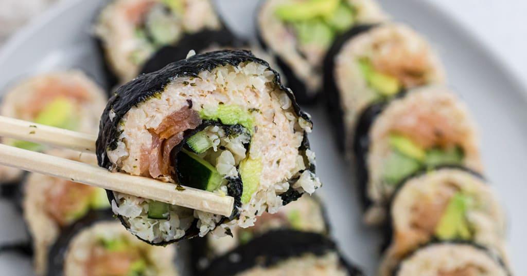 Des Rouleaux de Sushi KETO avec un Goût de Sushi Traditionnel.